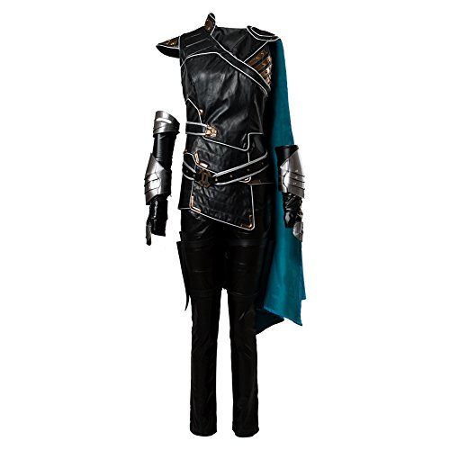 Thor 3 Ragnarok Valkyrie Outfit Whole Set Halloween Cosplay Costume(Without Shoes) (L, Black)]()