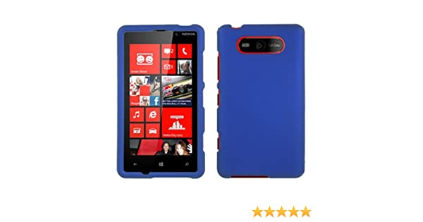 cheaper 6e78f 54338 Nokia Lumia 820 Case, CoverON [Snap Fit Series] Hard Rubberized Slim  Protective Phone Cover Case for Nokia Lumia 820 - Blue