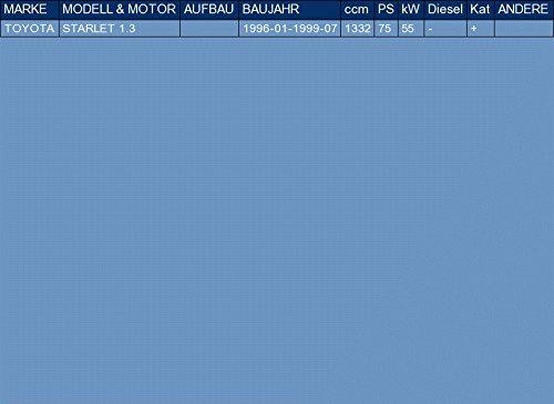 f/ür STARLET 1.3 75hp 1996-1999 ETS-EXHAUST 3177 Endtopf Auspuff