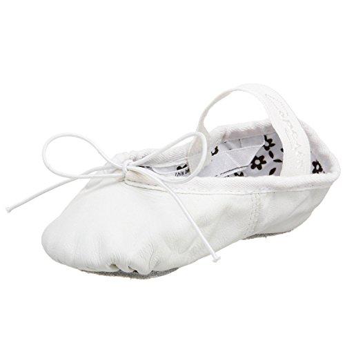 Capezio Toddler Daisy Ballet Slipper, White-7 M