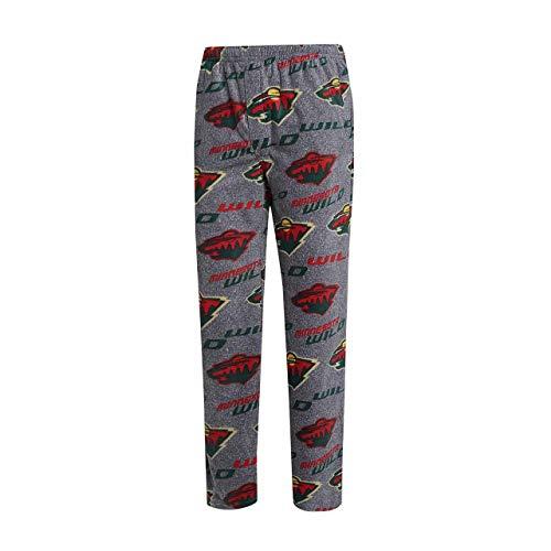 (Concept Sport Minnesota Wild Adult Achieve Fleece Pajama Pants - Gray, X-Large )