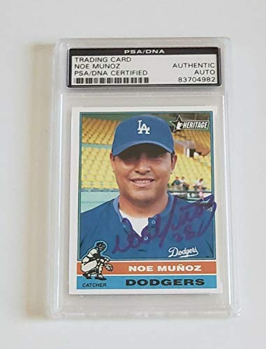 Noe Munoz Signed Auto'd Costum Trading Card Coa Dodgers Mlb Debut 1994 - PSA/DNA Certified - MLB Autographed Baseball Cards -