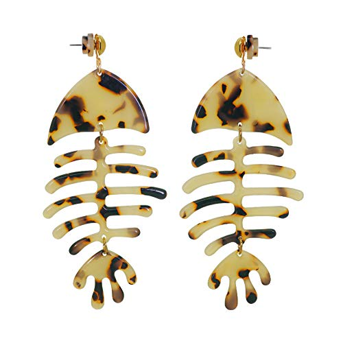 Floral Earrings for Women- Bohemian Statement Drop Dangle Earrings Leopard Print Jewelry for Women Girls (Leopard Print)