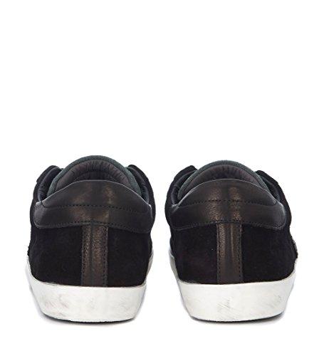 Philippe Model Heren Model Parijs Suede En Lederen Sneaker Zwart