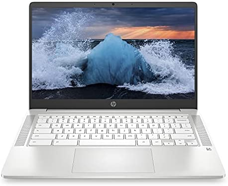 "2021 Newest HP Chromebook 14"" HD Laptop for Business and Student, Intel Celeron N4000, 4GB RAM, 32GB eMMC, Backlit-KB, Webcam, Fast Charge, WiFi, USB-A&C, Chrome OS,w/128GB SD Card, GM Accessories"