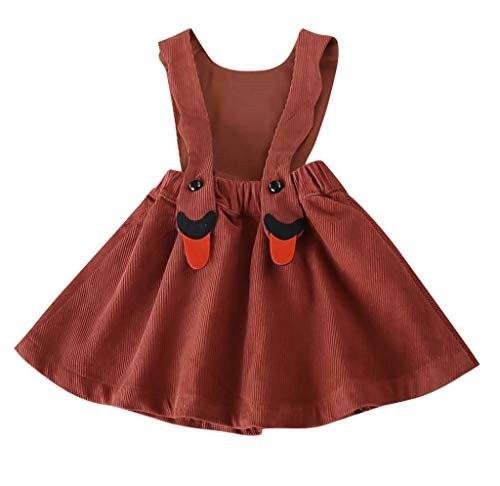 FONMA Baby Toddler Kid Girl Skirt Corduroy Swan Party Pageant Princess Overall Dress -