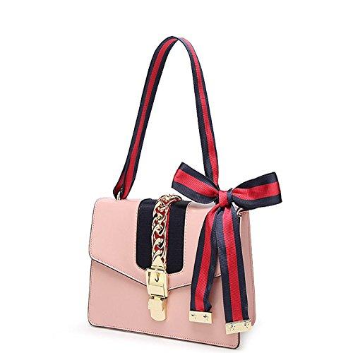 25 bandoulière véritable cuir à cuir 9 bandoulière la à en h l à 16cm FZHLY en Sac Femmes à Pink Sac main mode w E7wnq61AxY