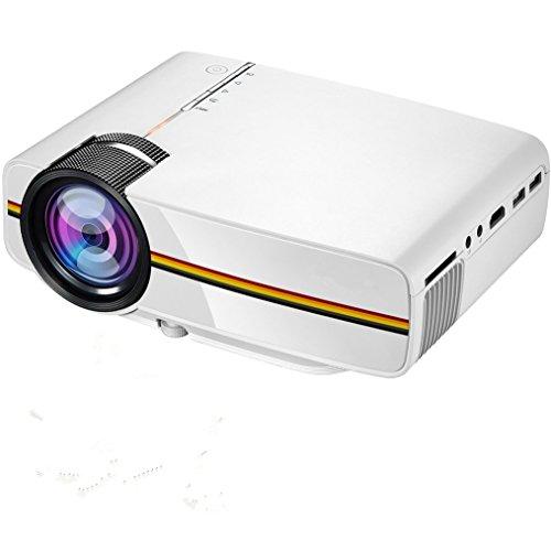 LED Beamer, Mini Projektor RAGU Z400 Video Projektor Portable Home Entertainment Theater LED Projektor 1200 Lumen 800 * 480 Auflösung Unterstützung 1080P für PC Laptop PS4 XBOX und Android TV Box, weiß