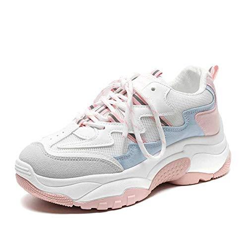 Plataforma Cuña Resbalón Cómodos Zapatos Con Transpirable Entrenadores Zapatillas Caminar Pink Deporte Correr Moda De Para Mocasines Mujer qt4z8Y0