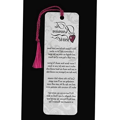 Mikash The Reunion Heart Memorial Damask Ivory rdstock Tassel Bookmarks, Pack of 12 | Model MMRLD - 777 | 2 x - Bookmark Reunion Heart