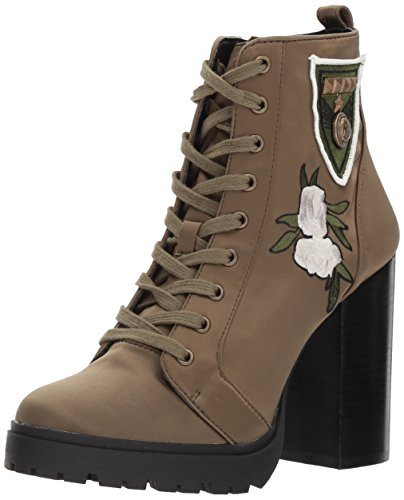 Steve Boot Women's Olive Laurie Satin Madden Combat rf6qSrxw1T