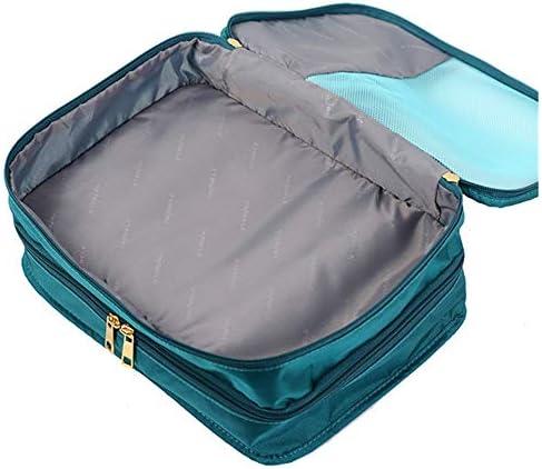 旅行用収納袋 パッキングキューブ旅行オーガナイザー荷物圧縮ポーチ防水服収納袋旅行アクセサリー旅行かばんオーガナイザー ハンドロールアップ再利用可能な服 (色 : 緑, Size : M)