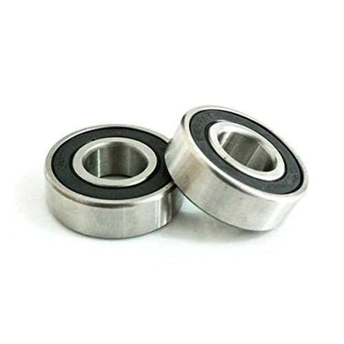 JRL 2pcs 6202-2RS 15mm Axle Rubber Sealed Ball Bearings 6202 RS Fit Pit Dirt Bike
