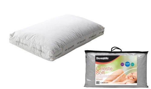 Dunlopillo Celeste Latex & Spiral Fibre Boxed Pillow - SOFT - Dunlopillow by Homespace Direct by Homespace Direct