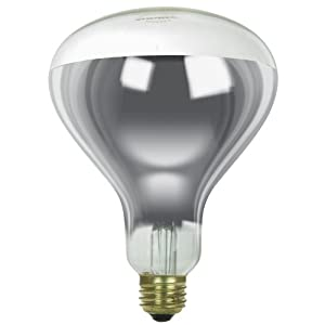 Sunlite 125R40/H/CL Incandescent 125-Watt, Medium Based, R40 Heat Lamp Bulb, Clear 13