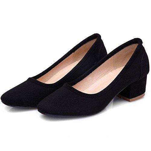 noires Chaussures femmes escarpins hauts à talons TAOFFEN pompes Chaussures pour et vwUqUC