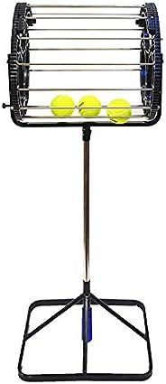 Eastdall Capacidad de 80 pelotas Pelotas de tenis Retriever Recogedor de pelotas de tenis Accesorio para tenis
