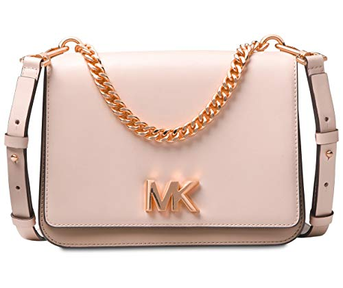 Michael Kors Mott Large Chain Swag Shoulder Bag, Soft Pink/Fawn