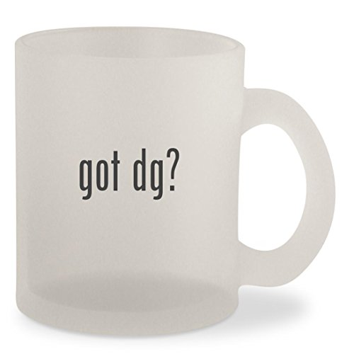 got dg? - Frosted 10oz Glass Coffee Cup - Sunglasses Dgs