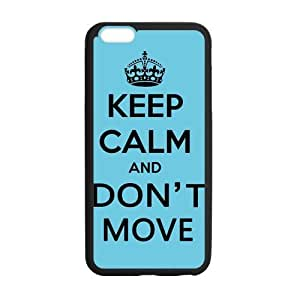 iPhone 6 5.5 Case, Keep Calm And Don't Move Blue TPU Frame & PC Hard Back Protective Cover Bumper Case for Iphone 6 Plus 5.5 Inch On 2014