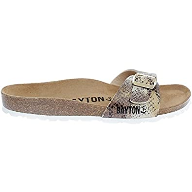 Bayton - Tongs   Sandales - Zephyr-beige Python - Taille 39 - Marron ... 2a83fc480fab