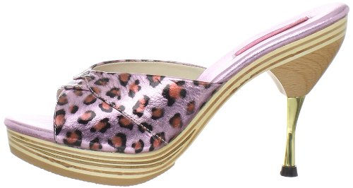 Leather Genie Pink 101lp 3 eu Leopard Bordello Uk 36 Print qwXda7