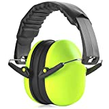 Hearing Protection Ear Muffs - Lime Green Hearing Protection and Noise Cancelling...