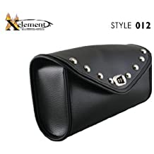 Xelement 012 Black Waterproof Chrome Studded Motorcycle Windshield Bag - One Size