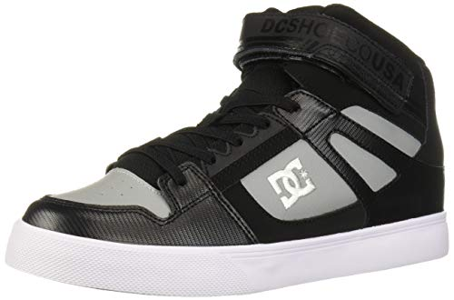 DC Boys' Pure HIGH-TOP EV Skate Shoe, Black/Grey, 1.5 M M US Big Kid (Boys High Top Shoes Dc)