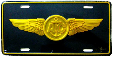 Metal Car License Plate - US Navy Military USN Air Crew Wings Crest (Us Navy Air Wing)