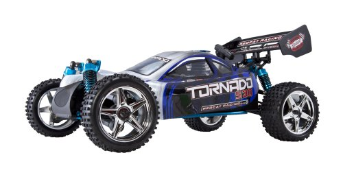 Redcat Racing Tornado S30 Buggy Nitro with 2.4GHz Radio (1/10 Scale), Blue/Silver