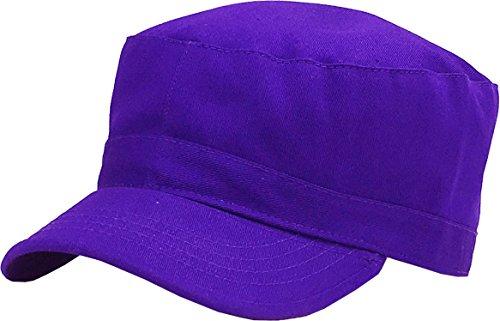 KBK-1464 PUR M Cadet Army Cap Basic Everyday Military Style Hat Purple