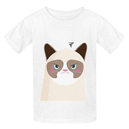 Grumpy Cat Naj Unisex Crew Neck Short Sleeve Tees White