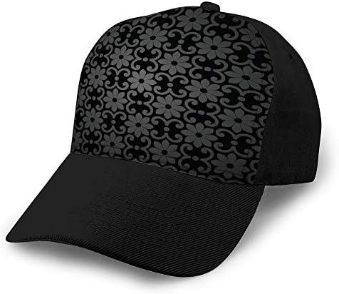 ncnhdnh 549 Herren Baseball Caps Mode verstellbare Sandwich Cap abstrakten verzierten Hintergrund Snapback Cap