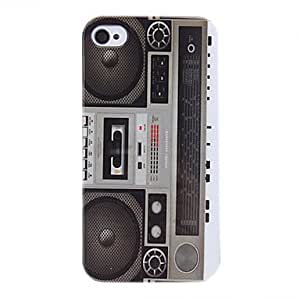 Recorder Pattern Protective Hard Case for iPhone 4/4S