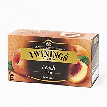 Twinings Peach Flavoured Black Tea 50g. (2g.x25 Sachets)
