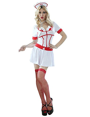 Angcoco Cosplay Sexy Head Nurse Heart Breaker Costume Adult Uniform Set Outfit