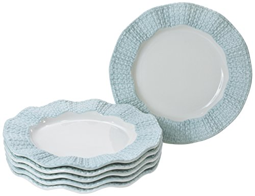 Yedi Houseware Classic Coffee & Tea Matte Sweater Plates, 20cm, Baby Blue, Set of 6