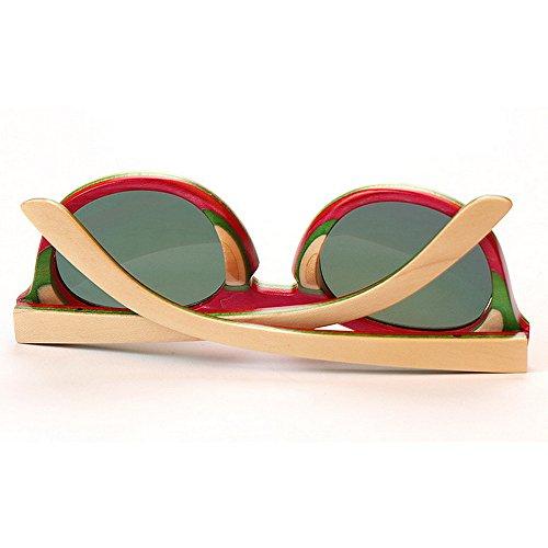 de para Tonos de Hecho Gafas Las Lindo de de UV de los Sol bambú Gafas polarizadas Mano de Mujeres Gato Sol Protección Gafas Proteccio Moda Verano Playa Marco a Sol de Ojos de de de Gafas Madera Sol wOXqxtrOH