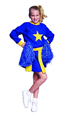 RG Costumes Cheerleader Child Costume, Medium, Blue/Yellow -