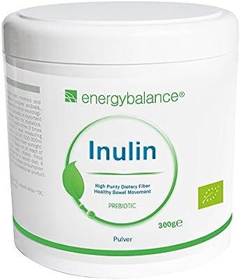 Polvo de inulina orgánico 300g | Polvo de fibra florabiótica de agave | Máxima pureza Mínimo 90% de contenido de fibra | Fibra dietética | vegano | ...