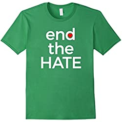 Mens End the Hate Anti Bullying Shirt End Racism Peace & Love Tee XL Grass
