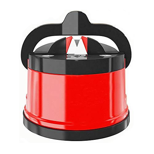 Kitchen Knife Sharpener, Knives Sharpening Tool for all Blade Types with Suction Pad, Portable & Safe to Use for Kitchen, Workshop, Craft Rooms, Camping & Hiking