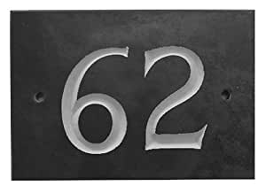 Black Slate House Number 1-99 (Number 62)