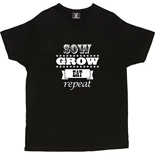 Gift Republic, cm de diámetro, Eat, repetición de T-camiseta de manga corta V-Neck Black Men's T-Shirt