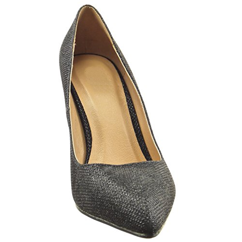 Sopily - damen Mode Schuhe Pumpe Stiletto glänzende - Schwarz