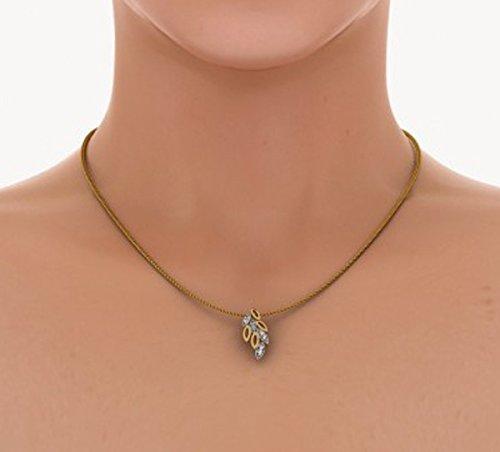 Or jaune 18K 0,08ct tw Round-cut-diamond (IJ | SI) Pendentif