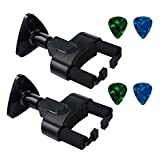 Guitar Hanger for Electric, Acoustic Guitars or Bass, Home & Studio Guitar Wall Keeper Hook Holder (Guitar Wall Hanger 2 Pack)