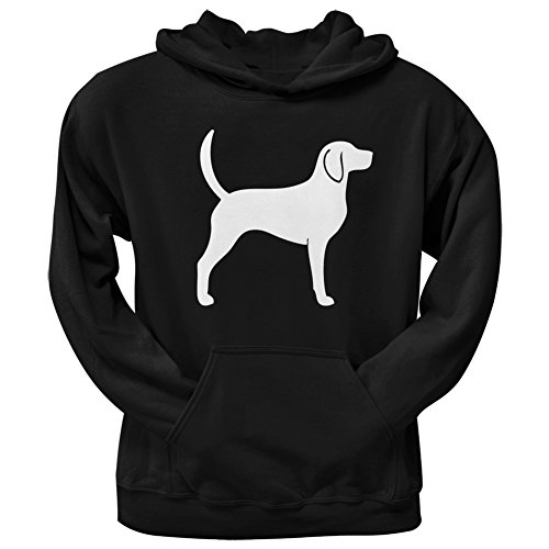 Foxhound Silhouette Black Adult Hoodie - (Foxhound Silhouette)