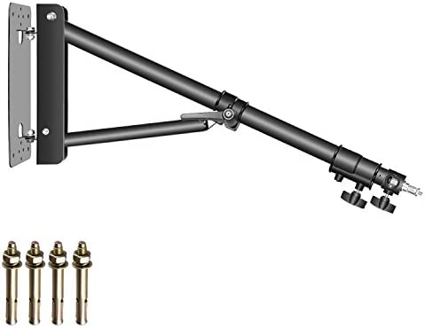 Neewer Triangle Wall Mounting Boom Arm for Photography Studio Video Strobe Lights Monolights Softboxes Umbrellas Reflectors,180 Degree Flexible Rotation,Max Length 51.1 inches/130 Centimeters (Black)